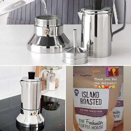 Moka Pot (6-8 cup) Starter Kit