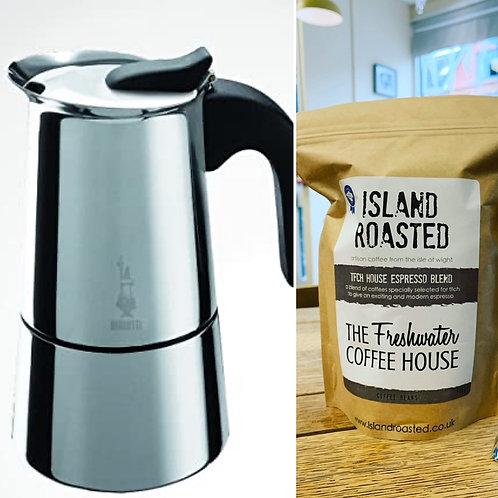 Moka Pot (2-3 cup) Starter Kit
