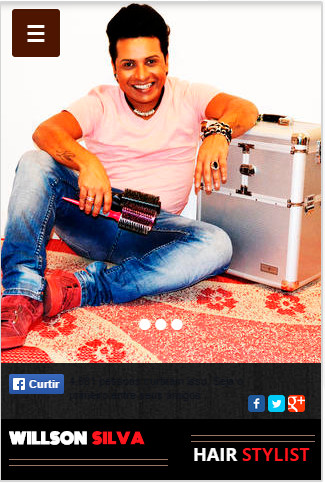 Site mobile - Hair Stylist Willson Silva