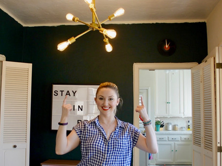 Reluctant Housewife: How-To Install a Chandelier