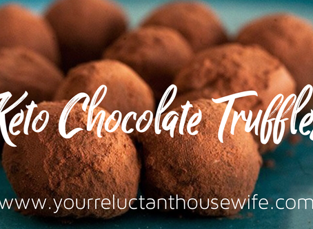 Reluctant Housewife: Keto Chocolate Truffles