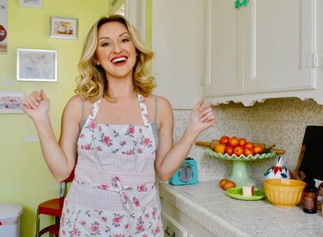 Reluctant Housewife: Peach Blackberry Yogurt Cake