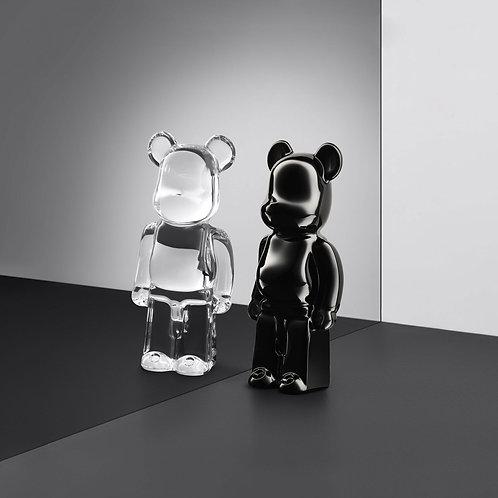 Sculpture Bearbrick debout noir cristal - Baccarat