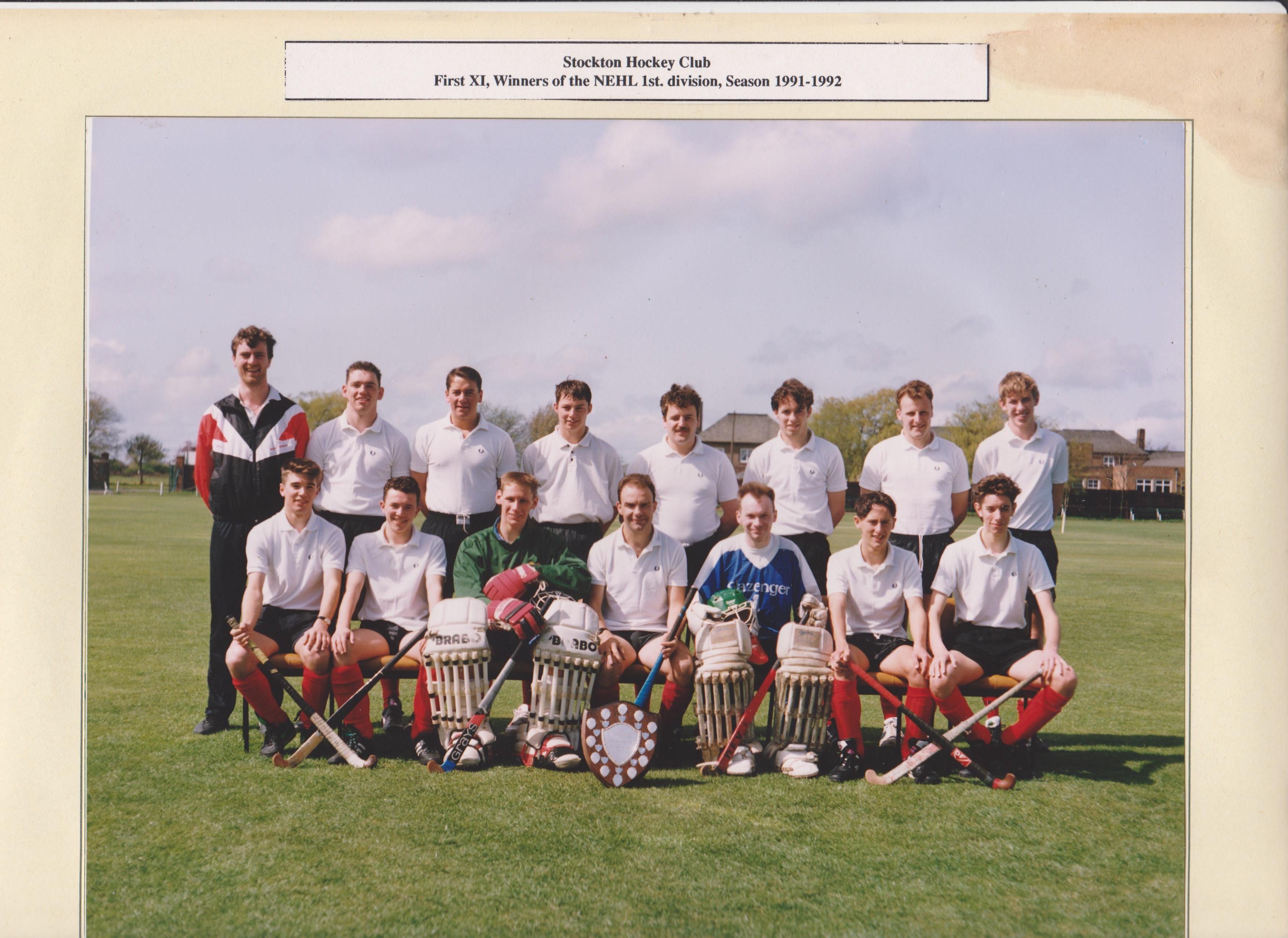 1st XI NEHL winners 1991-92 001