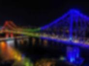 Bridge night photography brisbane drone