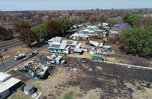 Fire damage assessment drone