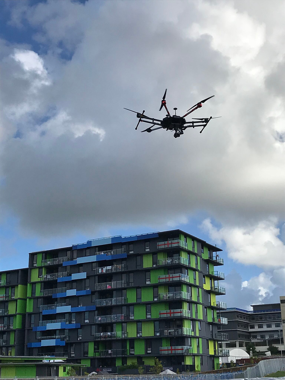 Dribes Security Dji M600 Pro securing the commonwealth games athletes village
