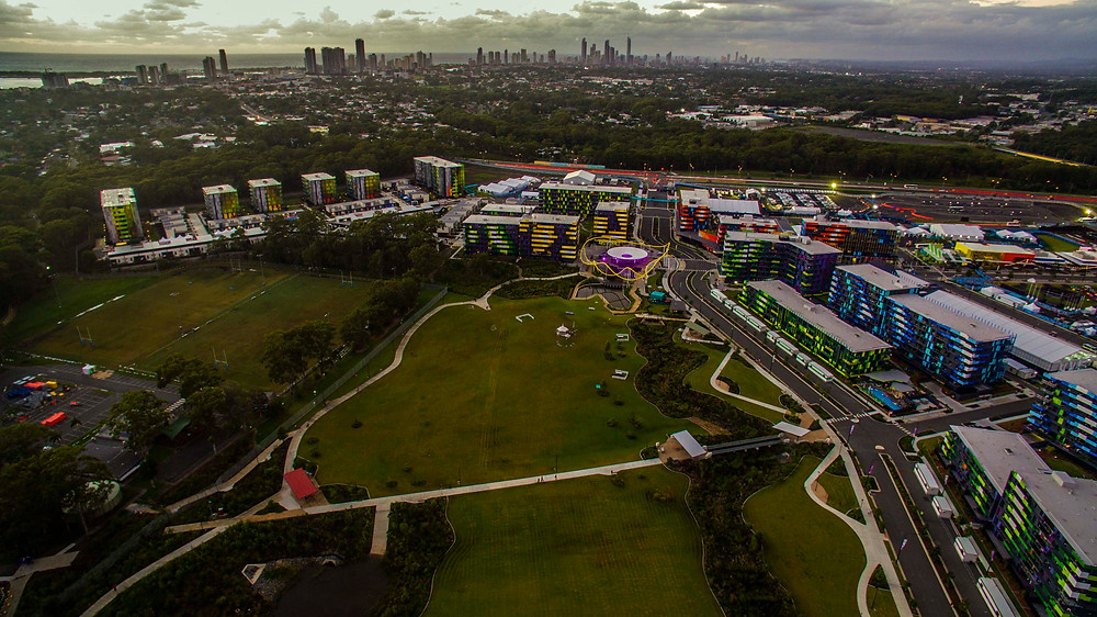 Drone Security - commonwealth games athletes village