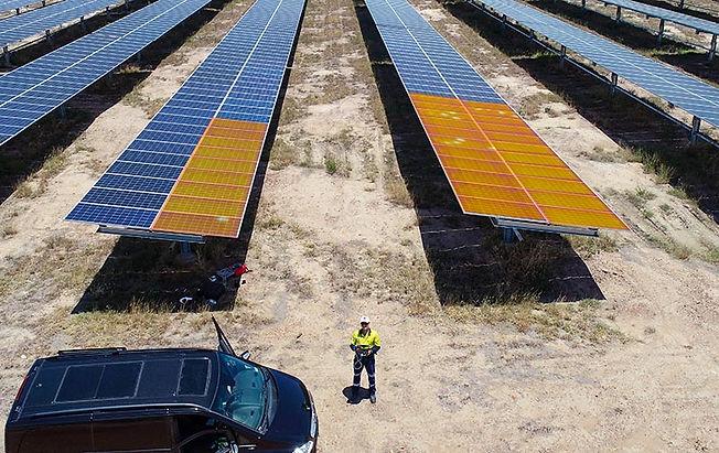 Solar Farm Drone Inspection