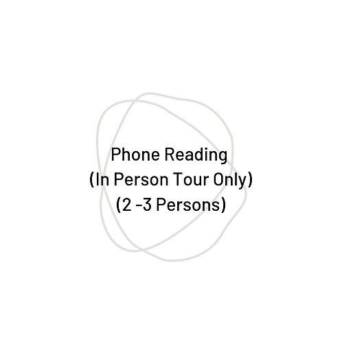 60 Minute Phone Reading (2 -3 Persons)