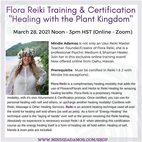 Flora Reiki March 28, 2021