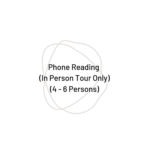 90 Minute Phone Group Reading [4-6 Persons]