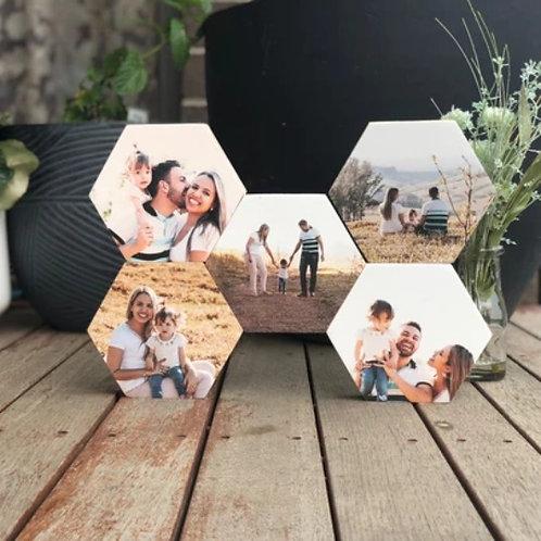 Hexagon Set of 5