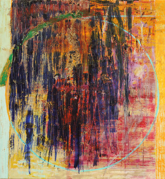 "20.14 Circle, 2020, oil on canvas, 30 x 28"""