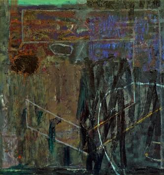 "20.04 Splendor (Night), 2020, oil,acrylic,canvas, 30 x 28"""