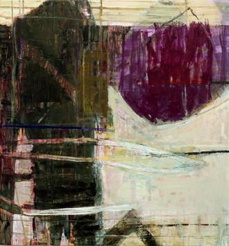 """21.03 Hoop, 2021, oil, acrylic on canvas, 30x28"""""""