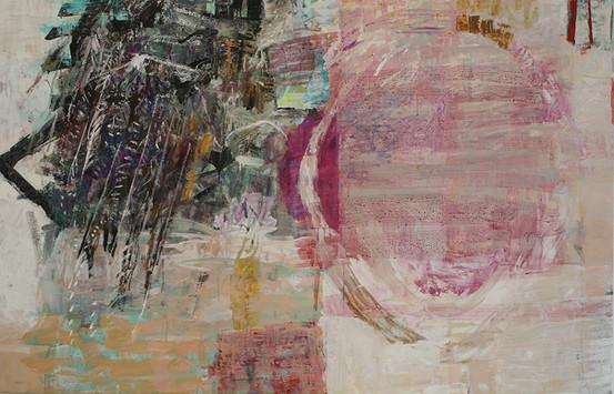 "16.9 Between, 2016, oil,acrylic,canvas, 54 x 84"""
