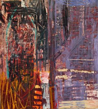 "20.25 Blue light, 2020, oil on canvas, 54 x 49"""