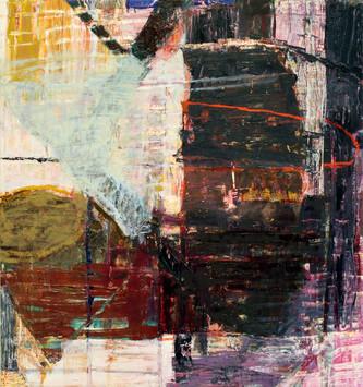 """21.04 Kite, 2021, oil, acrylic on canvas, 30x28"""""""