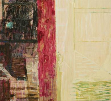 "15.02 Half My World 2, 2015, oil,acrylic,canvas, 49 x 54"""