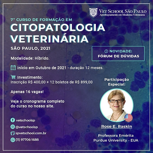 7º Curso de Formação em Citopatologia Veterinária – Híbrido – Turma 2