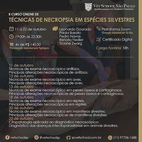 II Curso Online de Técnicas de Necropsia em espécies silvestres.
