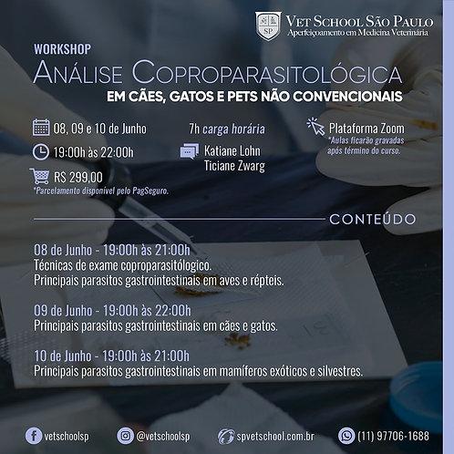 Workshop de Análise Coproparasitológica em Cães, Gatos e Pets Não Convencionais.