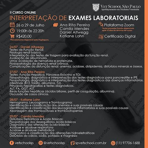II Curso Online De Interpretação De Exames Laboratoriais