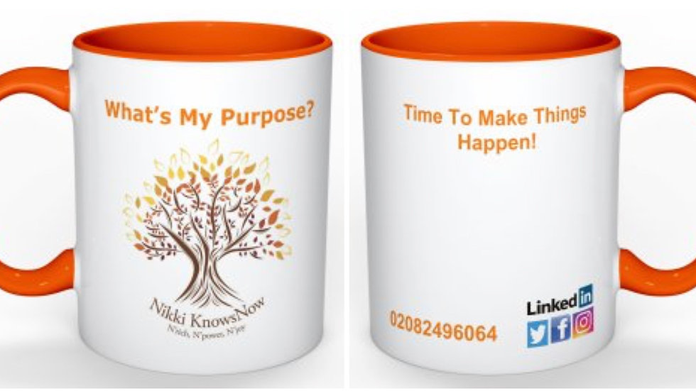 """""""Dream Plan Goal, Time To Make Things Happen"""" Cup"""