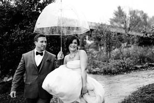 A rainy wedding day?
