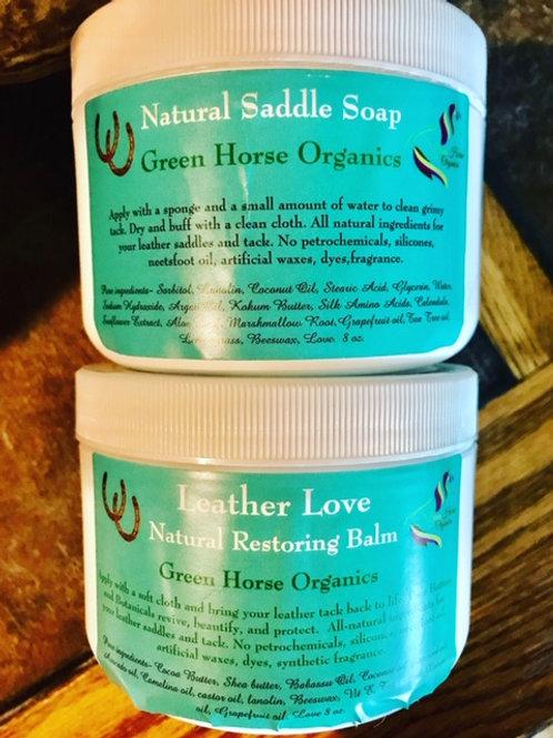 Leather Love Balm/Saddle Soap Set