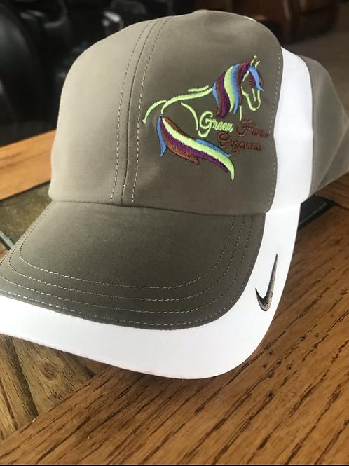 Khaki Nike Green Horse Organics Logo Cap