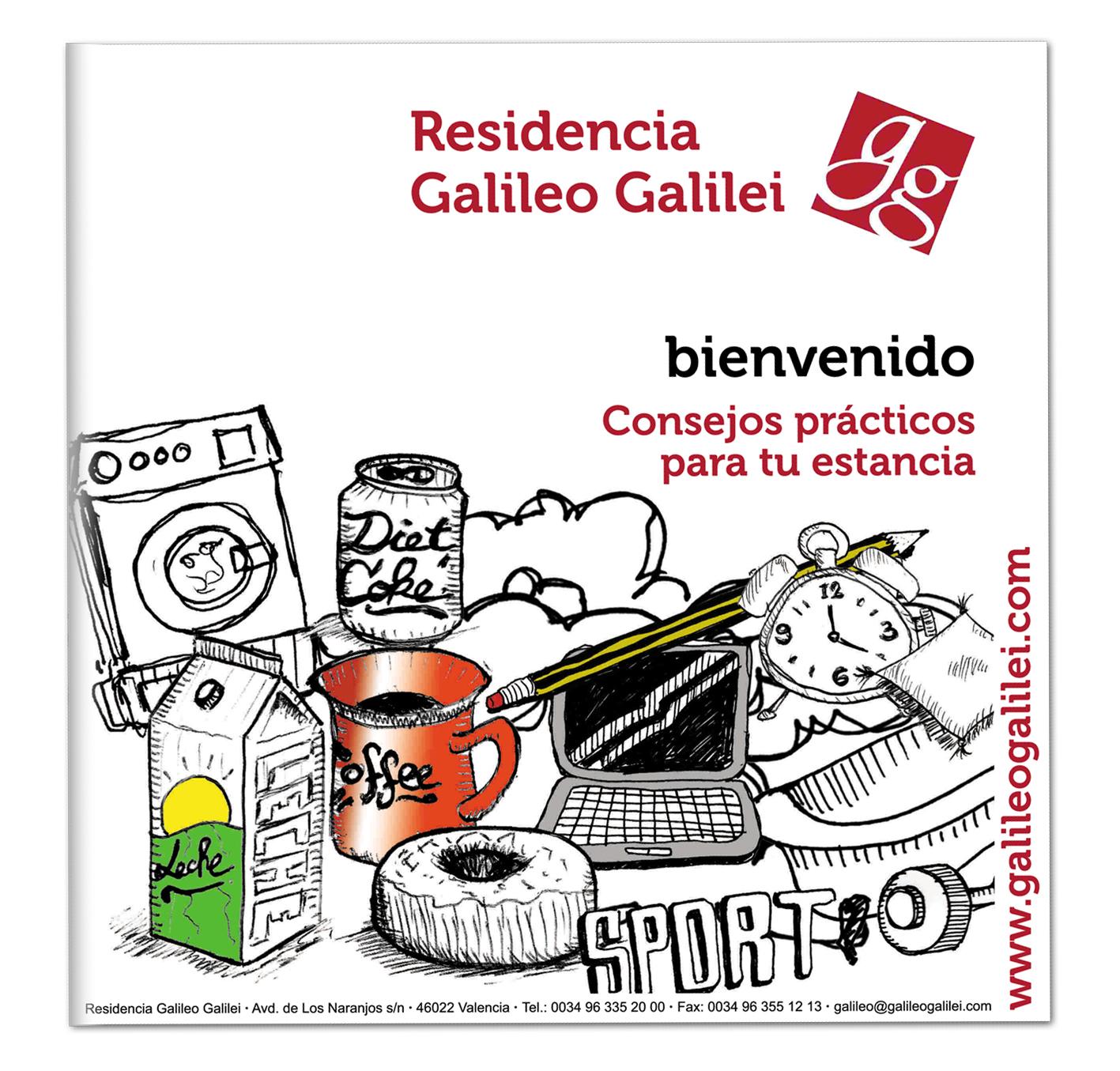 Díptico Bienvenida Galileo Galilei
