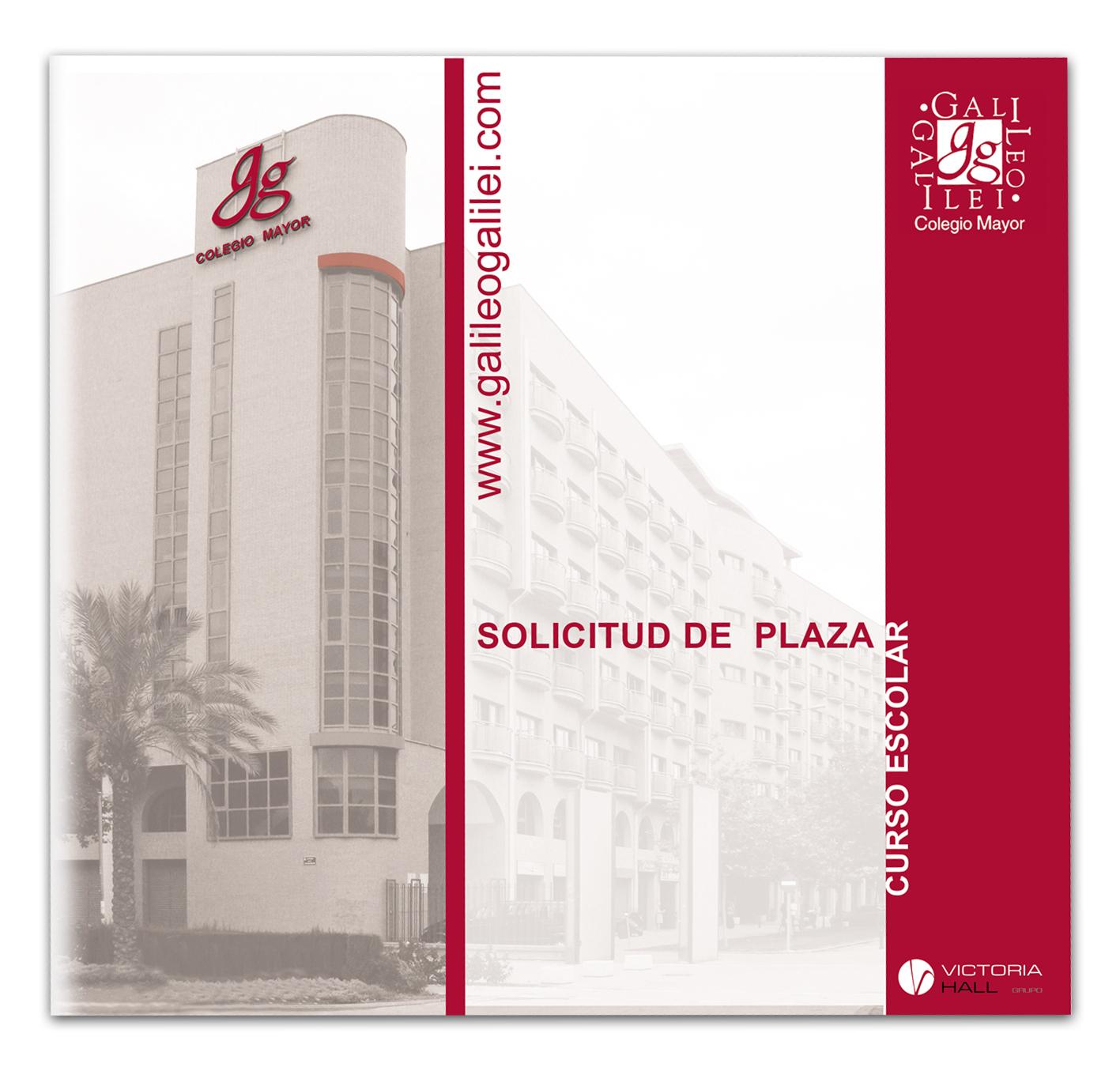 Díptico Solicitud de plaza