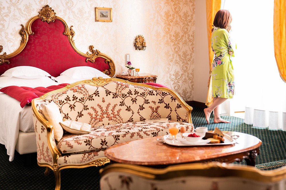 A room at the Grand Hotel Villa Serbelloni