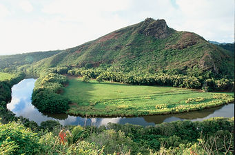 Beautiful Wailua River in Hawaii, a favorite elopement destination.