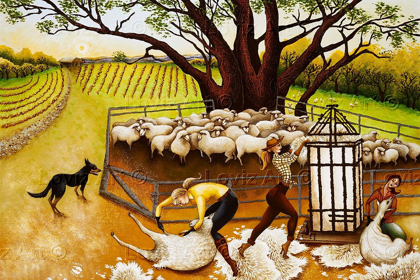 The Sheep Shear-hers