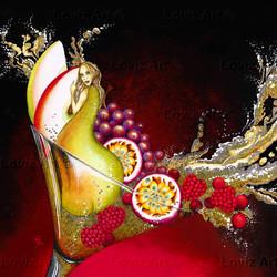 1727_Making Fruit Cocktail Love 102x102cm