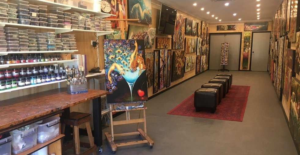 An artist gallery in the Hunter Valley