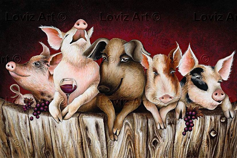 Happy as Swine's in Wine
