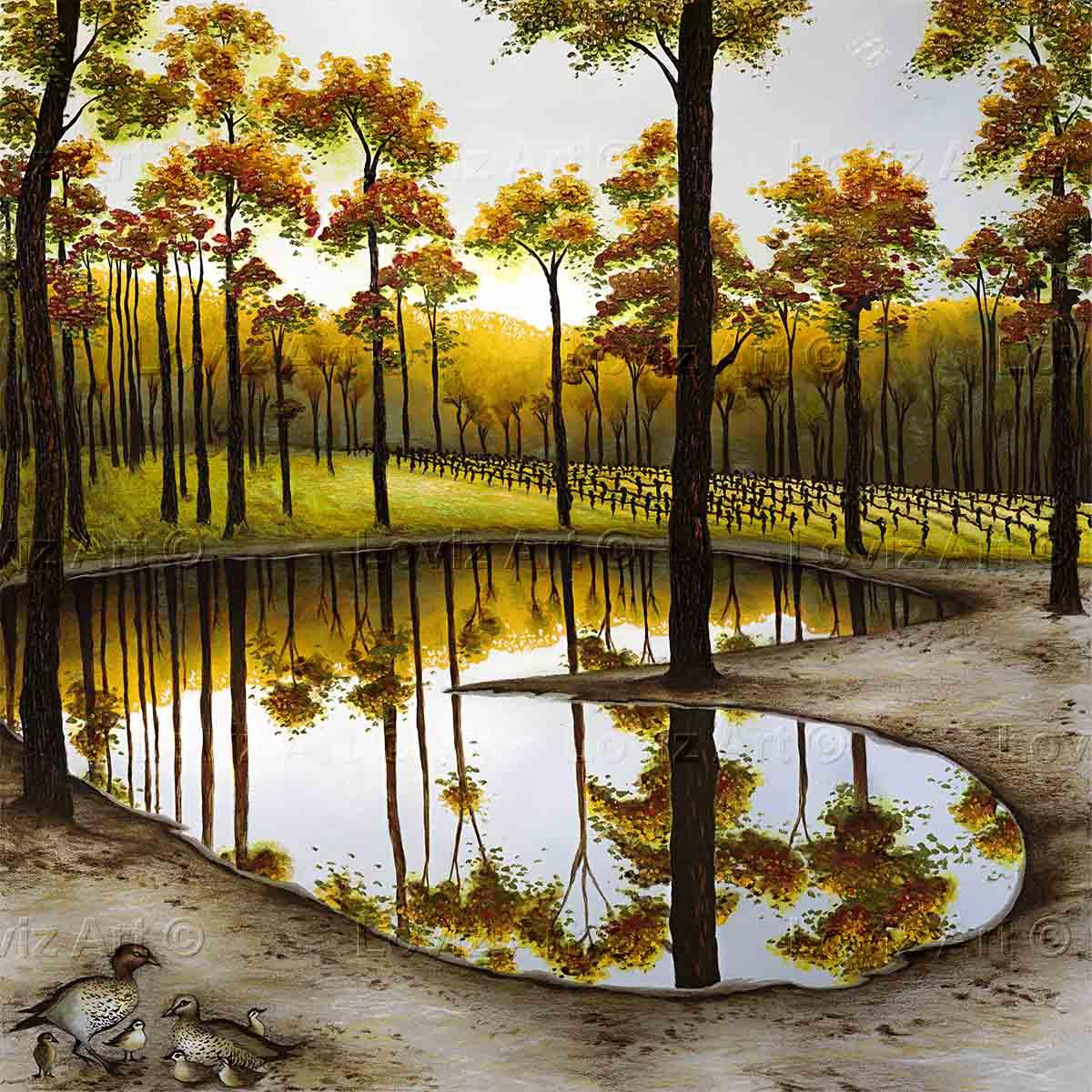 1713_DiVine Reflections 102x102cm $7500.