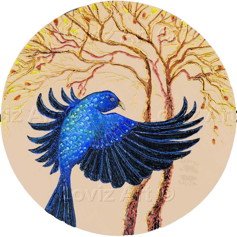1659_I Love Blue 30cm Dia
