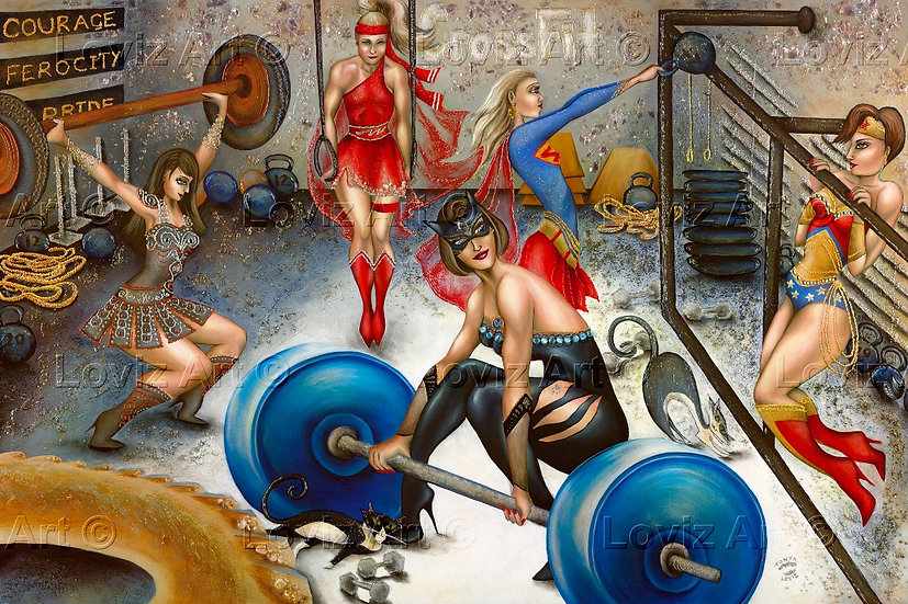 Where Super Heroes Work Out- AP