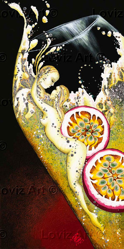 1721_Making Passionfruit Love 45x90cm