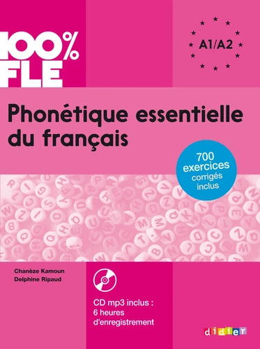 PHONETIQUE ESSENTIELLE DU FRANCAIS A1/A2 LIVRE CD
