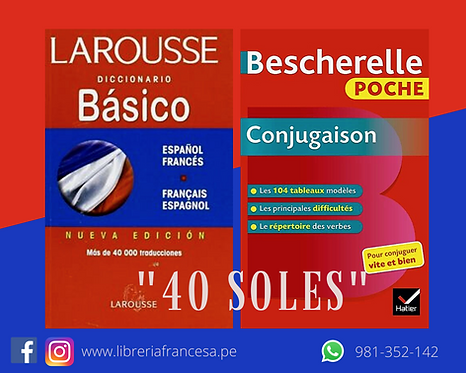 BESCHERELLE POCHE CONJUGAISON + DICCIONARIO BASICO FRANCES-ESPANOL