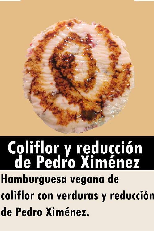 Hamburguesa vegana de coliflor y reducción de Pedro Ximénez
