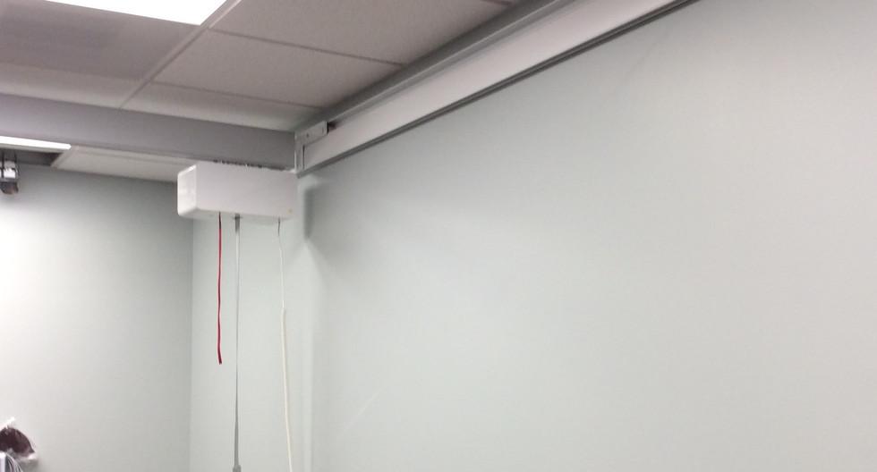 West Palm Beach VA-Room Covering using wall rails