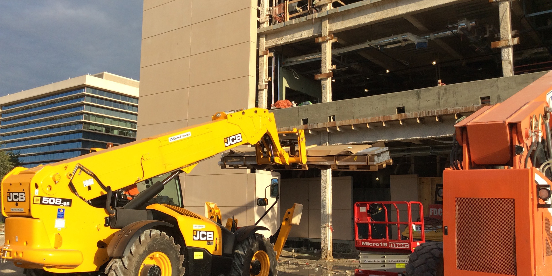 Loading 16 ft Rails into Cleveland Clinic