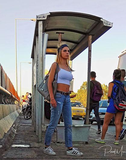 Bus station girl